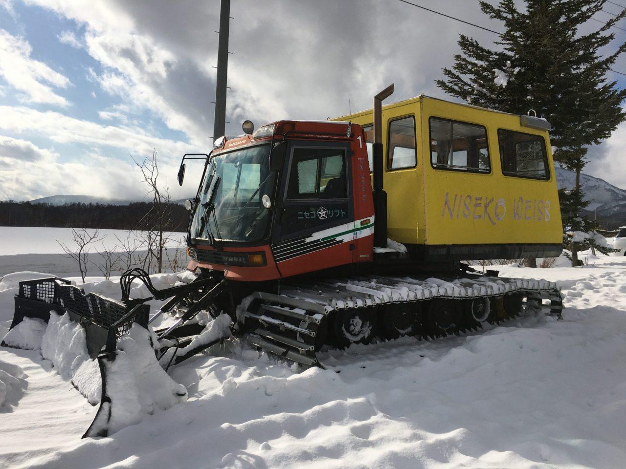 ニセコワイススキー場で使用されていたCAT