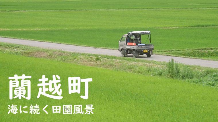 蘭越の田園風景